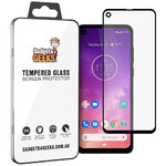 Full Coverage Tempered Glass Screen Protector for Motorola One Vision - Black